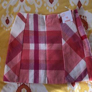 Girls Gymboree plaid skirt